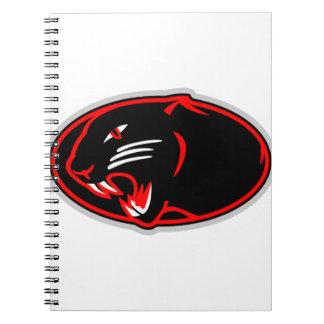 ヒョウのロゴ ノートブック