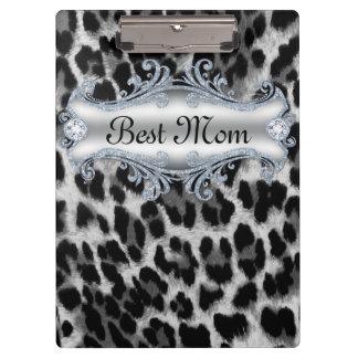 ヒョウの動物パターン最も最高のなお母さんの母の日 クリップボード