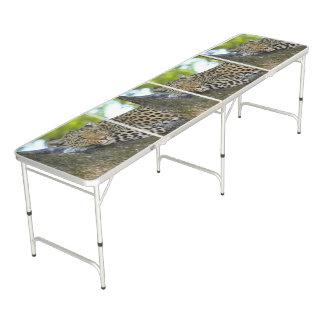ヒョウの正規のサイズビールPongのテーブル ビアポンテーブル