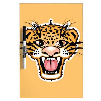 ヒョウの漫画のジャガー ホワイトボード