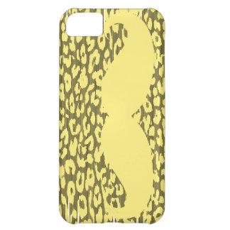 ヒョウの皮のおもしろいで黄色い髭 iPhone5Cケース