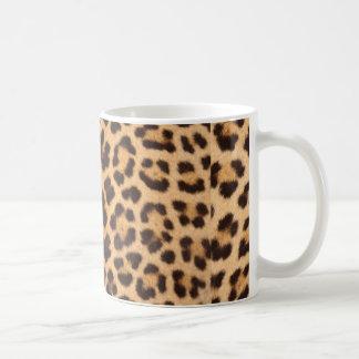 ヒョウの皮のデザインのプリント コーヒーマグカップ