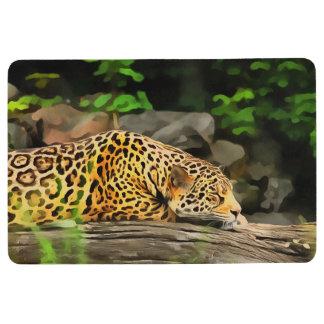 ヒョウの睡眠 フロアマット
