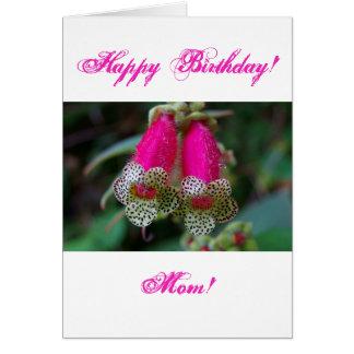 ヒョウの花のデザイン グリーティングカード
