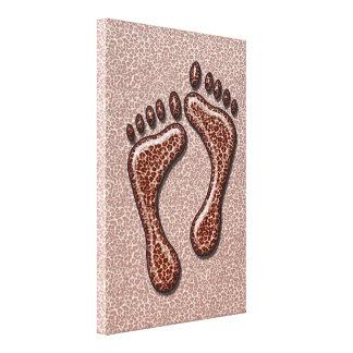 ヒョウの足 キャンバスプリント