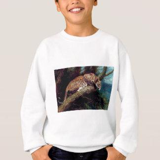 ヒョウの野生猫の動物の旧式な絵画 スウェットシャツ