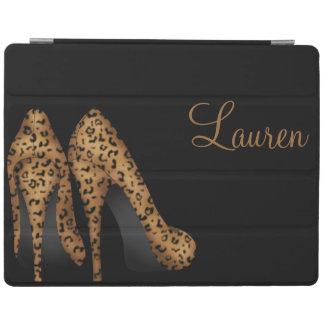 ヒョウの靴のデザインの磁気空気Ipadカバー iPadスマートカバー