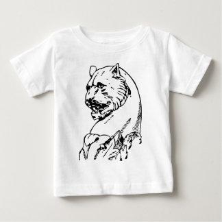 ヒョウの頭部 ベビーTシャツ