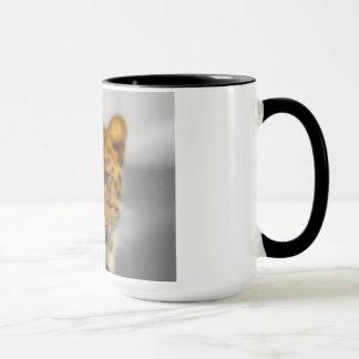 ヒョウの顔 マグカップ