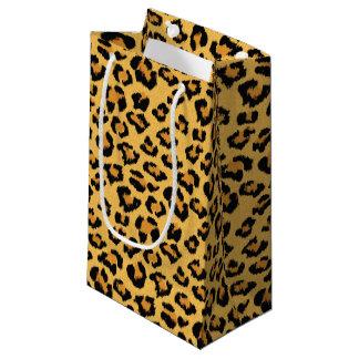 ヒョウまたはジャガーのプリントの模造のな毛皮パターン スモールペーパーバッグ
