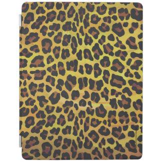 ヒョウブラウンおよび黄色いプリント iPadスマートカバー