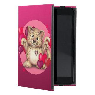 ヒョウ愛CATのブルーかわいいiPad Mini iPad Mini ケース
