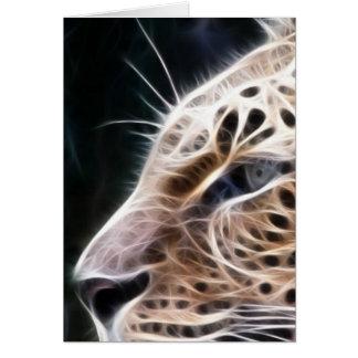 ヒョウ ライン、ヒョウの 絵画 カード