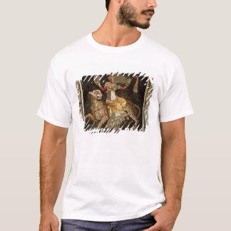 ヒョウc.180の広告に乗るDionysusのモザイク Tシャツ