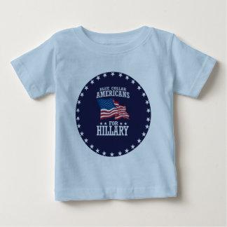 ヒラリーのためのブルーカラーのアメリカ人 ベビーTシャツ