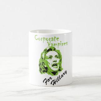 ヒラリーのための企業のな吸血鬼 コーヒーマグカップ