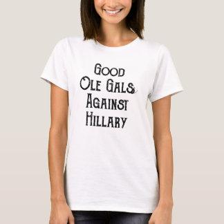 ヒラリーの女性のTシャツに対するよいオーレGals Tシャツ