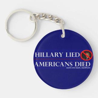 ヒラリーはアメリカ人死にましたありました キーホルダー