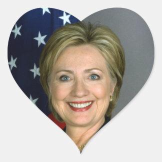 ヒラリークリントンのハートのステッカー ハートシール