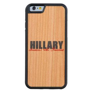 ヒラリー第45。 大統領 CarvedチェリーiPhone 6バンパーケース