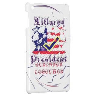 ヒラリー米国のより強い一緒に私のための投票は司会します iPad MINI CASE