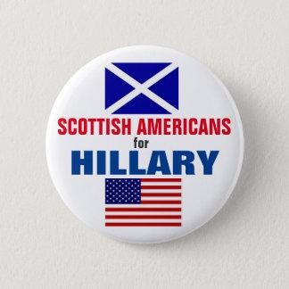 ヒラリー2016年のためのスコットランドのアメリカ人 缶バッジ