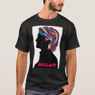 ヒラリー2016年: レトロのデザインの人のTシャツ(黒) Tシャツ