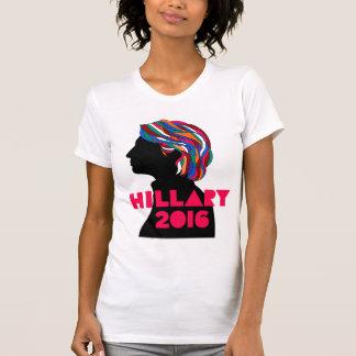 ヒラリー2016年: レトロのデザインの女性のTシャツ Tシャツ