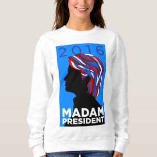 ヒラリー2016年: Women's Sweatshirt夫人大統領の スウェットシャツ
