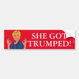 ヒラリー・クリントンのおもしろいな反バンパーステッカー バンパーステッカー