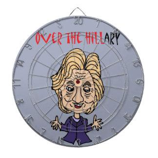 ヒラリー・クリントンのおもしろいな反政治芸術 ダーツボード