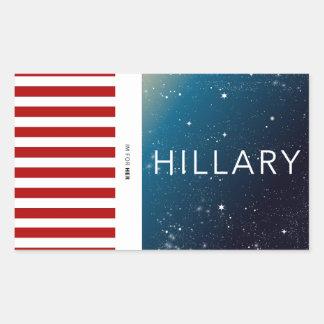 ヒラリー・クリントンのステッカー 長方形シール
