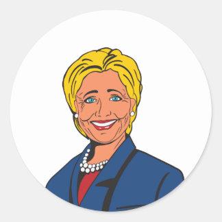 ヒラリー・クリントンの円形のステッカー ラウンドシール