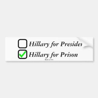 ヒラリー・クリントンの反バンパーステッカー バンパーステッカー