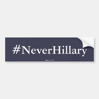 ヒラリー・クリントンの反#NeverHillaryバンパーステッカー バンパーステッカー