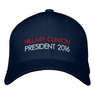 ヒラリー・クリントンの大統領2016年 刺繍入りキャップ