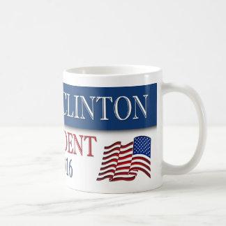 ヒラリー・クリントンの大統領2016米国の旗 コーヒーマグカップ