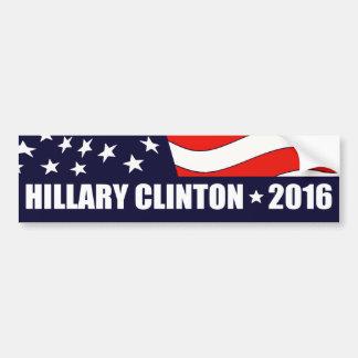 ヒラリー・クリントンの大統領2016米国旗 バンパーステッカー