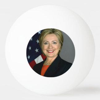 ヒラリー・クリントンの役人のポートレート 卓球ボール