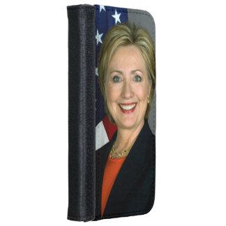 ヒラリー・クリントンの役人のポートレート iPhone 6/6S ウォレットケース