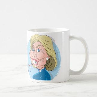 ヒラリー・クリントンの漫画Coffeemug コーヒーマグカップ