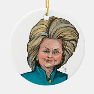 ヒラリー・クリントンの風刺漫画 セラミックオーナメント