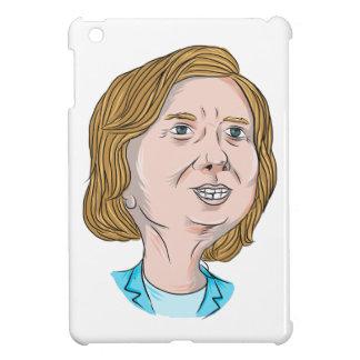 ヒラリー・クリントンの風刺漫画 iPad MINIカバー