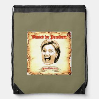 ヒラリー・クリントンの2016年のバックパック。 ナップサック