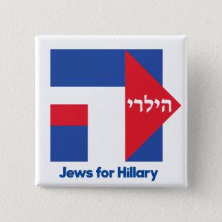 ヒラリー・クリントンの2016年の大統領ピンのためのヘブライユダヤ人 5.1CM 正方形バッジ