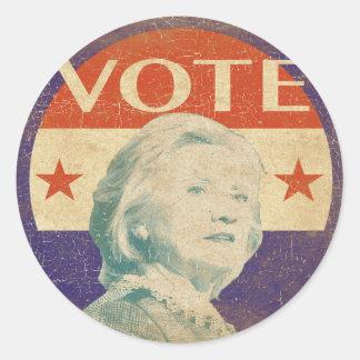 ヒラリー・クリントンの2016年の選挙のステッカー ラウンドシール
