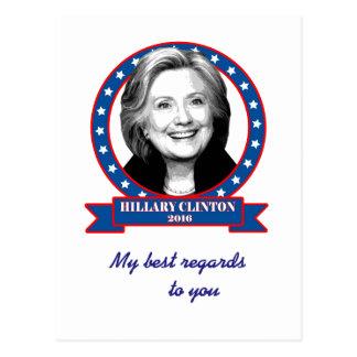ヒラリー・クリントンの2016年の郵便はがき ポストカード