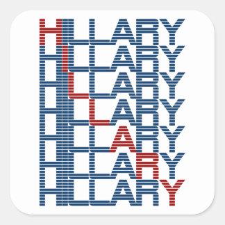 ヒラリー・クリントンのtextStacks スクエアシール