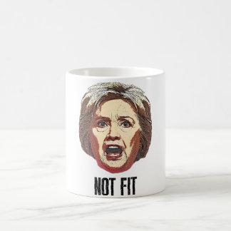 ヒラリー・クリントンは合いません コーヒーマグカップ