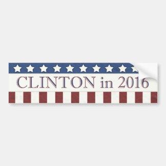 ヒラリー・クリントンは2016の星縞で飾ります バンパーステッカー